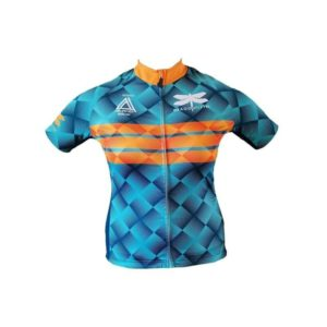 dragonfly tri cycling shirt blue front