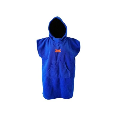 dragonfly tri towel poncho front blue