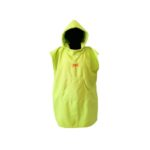dragonfly tri towel poncho front green