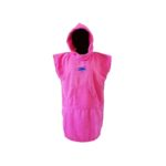 dragonfly tri towel poncho front pink