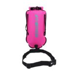 swimming tow float front pink